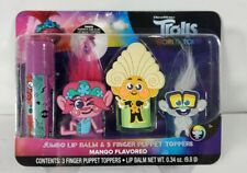 Dreamworks Trolls World Tour Jumbo Lip Balm Finger Puppet Toppers Mango Flavor