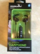 NEW IN BOX Krazilla Black KZH515 Bluetooth Earphone for iPhone and Android