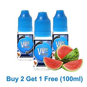 100ml E Liquid Vape Juice 70/30 VG/PG  - 0mg - 1.5mg - 3mg - 6mg Watermelon