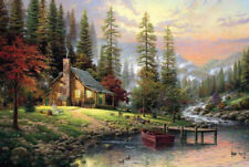 1000 piece House River Sunset Scenery Jigsaw Puzzle Intelligence Educational Toy