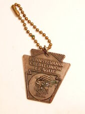 Pennsylvania Credit Union League 25th anniversary key chain w/ keystone fob
