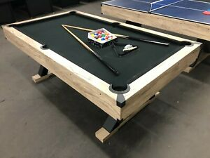 X-PRO SERIES - 7 FOOT POOL TABLE / DINING TABLE /TABLE TENNIS WITH BLACK FELT