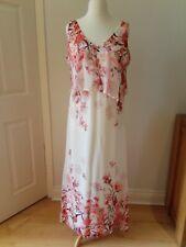 Wallis Petite Ladies Size 14 White & Pink Floral MaxI Dress BNWOT