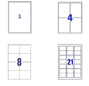 Self Adhesive Sticky A4 Address Labels Inkjet Laser Copier Printer Peel-Labels