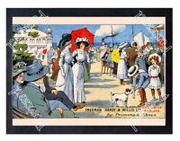 Historic Freeman Hardy & Willis Ltd Promenade Shoes, 1910 Advertising Postcard