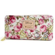Loungefly Disney Beauty and the Beast Belle Floral Zip Around Wallet WDWA0684