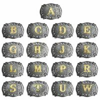 Men Vintage Initial Letters Rodeo Zinc Alloy Style Cowboy Hebilla del cinturón