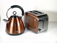 Copper Kettle And Toaster Traditional Breakfast Set New