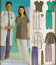 PLUS SIZE SCRUBS Sewing Pattern Easy Unisex Medical Scrub Tops Pants Jacket 5472