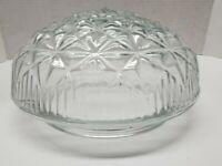 Flush Mount Ceiling Light Globe Shade Clear Glass Mushroom Shape Star Pattern
