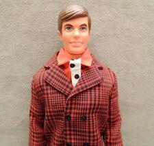 Barbie Ken 1970s Doll & Clothes Vintage Talking Vip Scene Suit Black Red