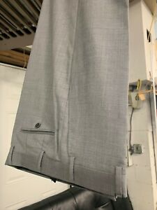 NEW Size 40 Men's Light Grey Dress Pant 100% Wool Super 150 Made In Italy R/$275