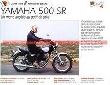 YAMAHA SR 500 ( SR500 ) 1978 Fiche Moto 000255