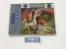 Notice - Wimbledon - Sega Game Gear - PAL EUR
