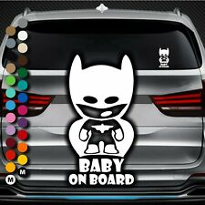 A139# Aufkleber Baby on Board Kind an Bord Hangover Sticker Auto Batman Tour DUB