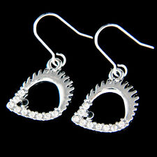 w Swarovski Crystal Cute ~Hedgehog Hedgy Porcupine Animal Jewelry Charm Earrings