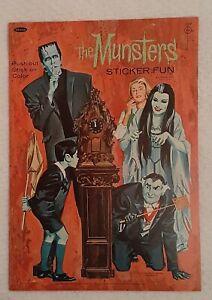 Vintage 1965 Whitman The Munsters Sticker Fun Book Original Unused
