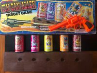 Rare 1993 Working Tin Can Alley Electronic Target Shooting Game By Li-Lo Leisure