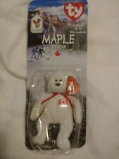 Rare Error Maple the bear from Ronald McDonald 1999 Ty beanie babies in package