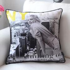"Retro Marilyn Monroe Throw Pillow Case Decorative Cushion Cover Sham 18""x18"" NY"