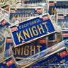 Knight Rider KITT Vanity License Plate Pin 80s DavidHasselhoff Rare