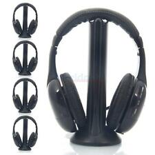 5Pcs Hi-Fi Wireless Headsets Headphones + FM Transmitter for Laptops PC TV MP3