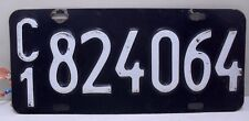 ANTIQUE LICENSE PLATE FROM BUENOS AIRES CITY ARGENTINA