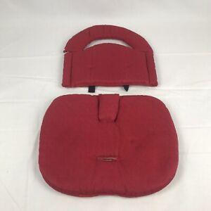 Svan Wood High Chair Signet Cover Red Cushion