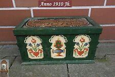 altes Holzkästchen Kiste Anno 1910 Jh. Handmalerei 27 x 13,5 x 13 cm Jugendstil