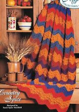 AUTUMN Country Spice Afghan/Crochet Pattern Instructions