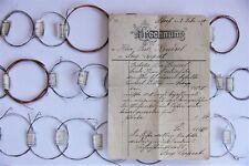 Satz mit 37 Zither Saiten 1920 Mittenwald Adorf
