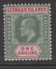 More details for leeward islands sg26a 1902 1/- green & carmine