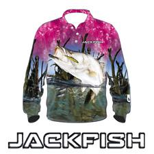 JACKFISH Barramundi Pink Long Sleeve Fishing Shirt - Ladies, UPF, All sizes, NEW