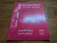 1990 1991 Oldsmobile Cutlass Supreme Convertible Supplement Service Manual