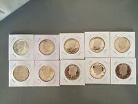1970 40% silver-1979 S Complete Set Kennedy Half Dollars Gem Proof Run 10 Coins