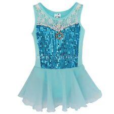 Girls Leotard Ballet Gymnastic Dance Dress Tutu Skirt Dancewear Costume SZ 2-12Y