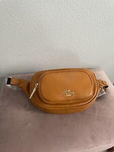 NWT Coach 6488 Leather Court Belt Bag Fanny Pack Sling Bag Butterscotch