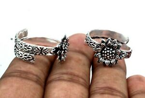 925 Sterling Silver Foot Jewelry Toe Ring Jewelry Bichiya Traditional Jewelry