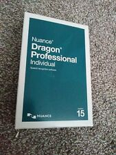 Nuance Dragon Professional Individual 15 Speech Recognition dvd ROM full version