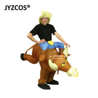 Bull Costume Adult Inflatable Blow Up Suit Party Fancy Dress Carnival Outfit Men