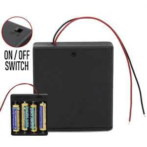 Kuinayouyi 2 Pcs 3 x AAA 4.5V Battery Holder Case Box Wired ON//OFF Switch w Cover
