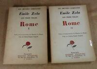 OEUVRES COMPLETES EMILE ZOLA - LES 3 VILLES ROME 1 & 2 - FRANCOIS BERNOUARD