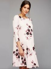 NEW A PEA IN THE POD PINK FLORAL A-LINE MATERNITY DRESS SIZE LARGE