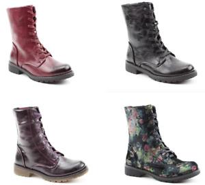 Heavenly Feet Chloe Vegan Friendly Memory Foam Lace up Ladies Boots