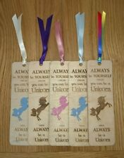 Unicorn  Bookmark - wooden bookmark, laser engraved with unicorn quote