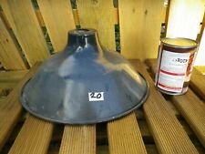 Vintage French Metal Industrial pendant light shade black, retro, loft. 20
