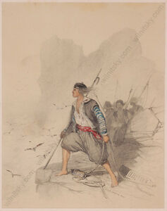 "Pierre Eugene Grandsire (1825-1905) ""Pirates"", drawing, 1848"