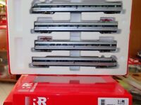 Rivarossi HRS2512D ETR 401 Set 4 elementi,argento/blu,logo FS inclinato, DCC
