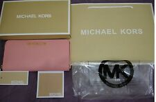 BRAND NEW 100% GENUINE MICHAEL KORS WOMEN PALE PINK LEATHER WALLET PURSE