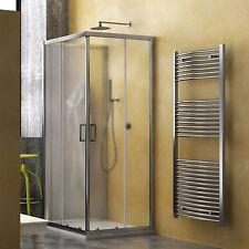 Box doccia 80x120x80 cabina 3 lati cristallo stampato apertura scorrevole novità